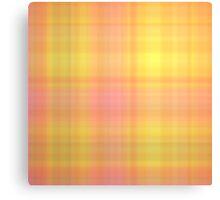 Pink-Yellow Plaid Canvas Print