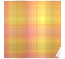 Pink-Yellow Plaid Poster