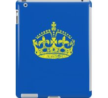 Distressed Grunge Keep Calm Crown iPad Case/Skin