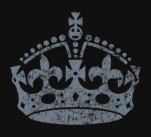 Distressed Grunge Keep Calm Crown by Garaga