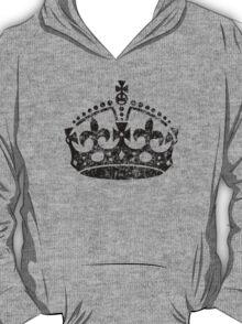 Distressed Grunge Keep Calm Crown T-Shirt
