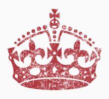Distressed Grunge Keep Calm Crown Kids Clothes