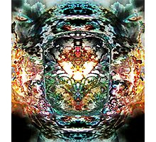 Fiery Emergence- The Breath of Chaos Photographic Print