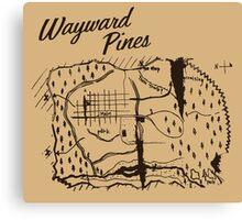 Wayward Pines - Map Canvas Print