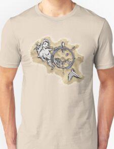 Chrome Mermaid in Sand Unisex T-Shirt