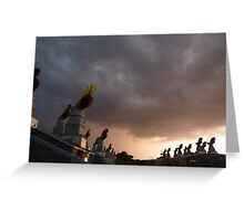 approaching storm Greeting Card