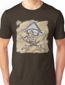 Chrome Pirate Crossbones in Sand Unisex T-Shirt