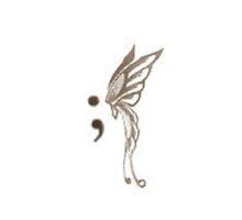 semicolon butterfly by AdrielleBlaas