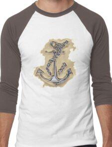 Chrome Anchor in Sand Men's Baseball ¾ T-Shirt