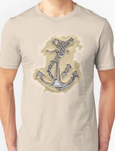 Chrome Anchor in Sand Unisex T-Shirt