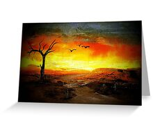 Parched Earth 2 Greeting Card