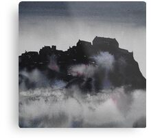 Edinburgh Castle Darkness 3 Metal Print