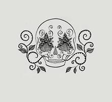 Orchid Eye Skull Unisex T-Shirt