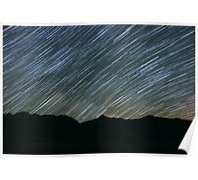 Milky Way Galaxy Star Trail Poster