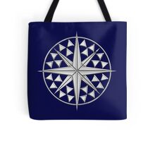 Chrome Style Nautical Compass Star Tote Bag