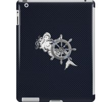 Chrome Style Nautical Mermaid Applique iPad Case/Skin
