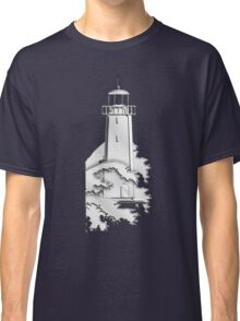 Nautical Chrome Mighty Lighthouse Classic T-Shirt