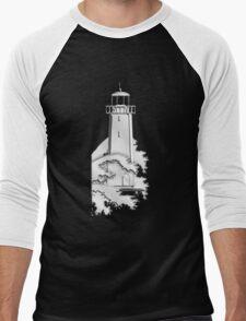 Nautical Chrome Mighty Lighthouse Men's Baseball ¾ T-Shirt