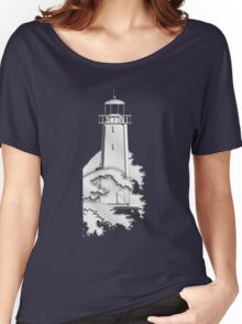 Nautical Chrome Mighty Lighthouse Women's Relaxed Fit T-Shirt