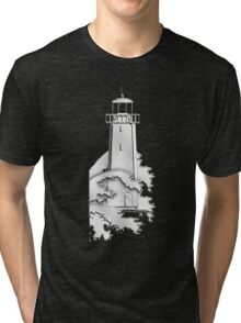 Nautical Chrome Mighty Lighthouse Tri-blend T-Shirt