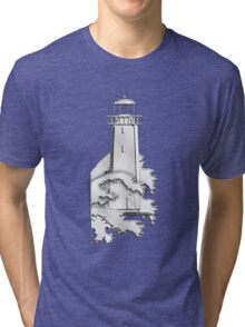 Nautical Chrome Mighty Lighthouse Tri-blend T-Shirt