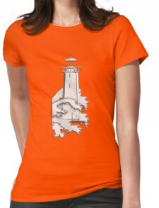 Nautical Chrome Mighty Lighthouse Womens Fitted T-Shirt