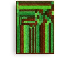 Abstract Art Study - Green & Brown Canvas Print