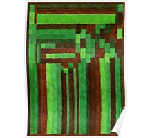 Abstract Art Study - Green & Brown Poster