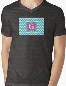 Chevron G Mens V-Neck T-Shirt