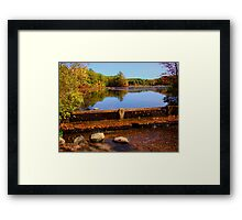 Small water fall Framed Print