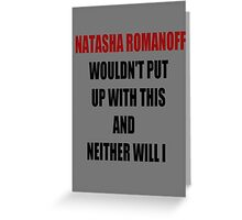NR Wouldn't Put Up With This Greeting Card