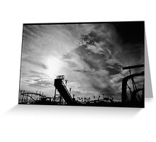 Old Orchard Beach at Sunset Greeting Card