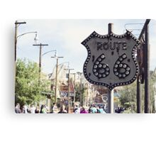 Route 66 Sign Canvas Print