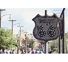 Route 66 Sign Photographic Print