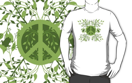 Green Leafy Peace by Amy-lee Foley