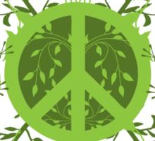 Green Leafy Peace Sticker