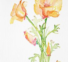 Bunch of California Poppies by CheyAnne Sexton