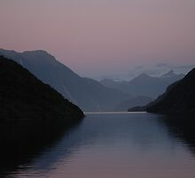 Doubtful Sound Sunset, New Zealand by Albert Sulzer