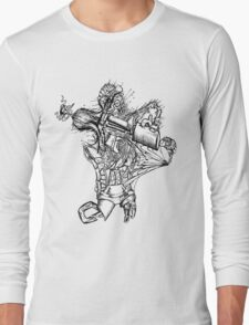 Origami Snow Angel Long Sleeve T-Shirt