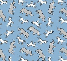 Unicorn and Rhinoceros pattern by jezkemp