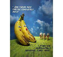 Nuts and bananas Photographic Print