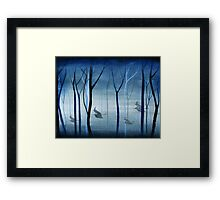 Witches Flying Low Through the Forest Framed Print
