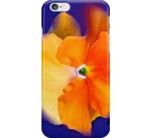 Orange Glow Pansy iPhone Case/Skin