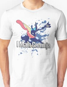I Main Greninja - Super Smash Bros. Unisex T-Shirt