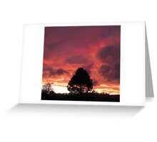 Wolds Sunset Greeting Card