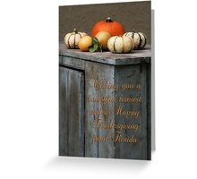 Happy Thanksgiving from Florida Greeting Card