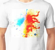 orange and blue spills Unisex T-Shirt
