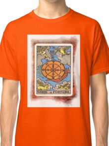 Wheel Of Fortune Tarot Card Classic T-Shirt