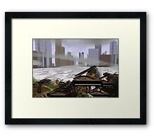 Seige of the artists reclaiming the cities  Framed Print