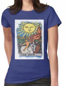 The Sun Tarot Card Womens Fitted T-Shirt